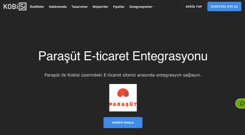 paraşüt e-ticaret entegrasyonu